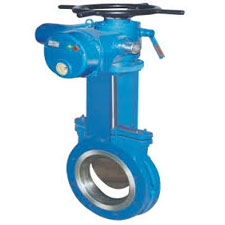 KNIEF EDGE GATE VALVE  ELECTRIC OPERATED