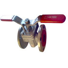 SS BODY PLUG VALVE FLANGED END WITH PTFE SEATED